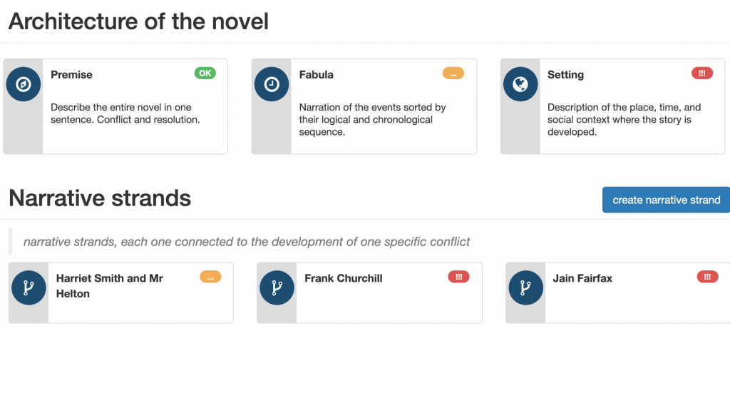 Narrative Techniques Series: #2 Show don't tell -  bibisco's architecture of the novel & narrative strands - bibisco blog | useful resources by your novel writing software