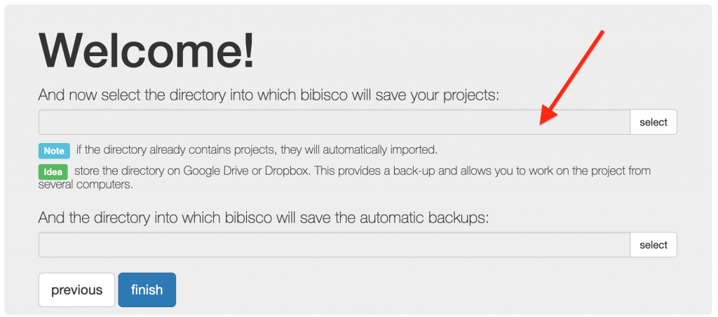 Projects' directory selection Best practices for securely managing bibisco projects bibisco blog | useful resources by your novel writing software